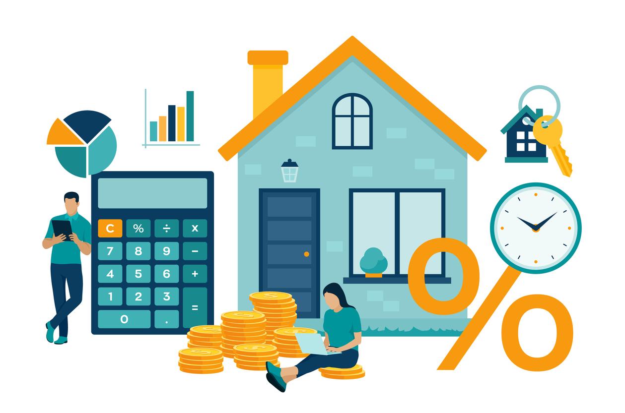 cartoon of mortgage rates